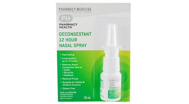 Pharmacy Health Decongestant Nasal Spray